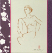 Nude drawing, croquis, wall paper, tapet